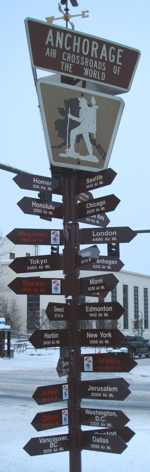 Anchorage sign post