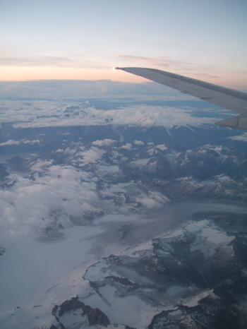 Alaskan Range on Bethel flight