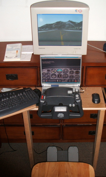 Flight simulator setup