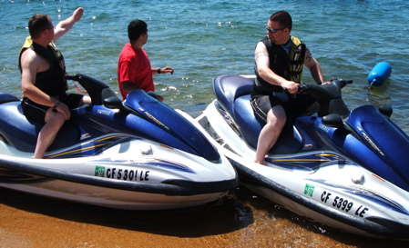 Jet skiing on Lake Tahoe