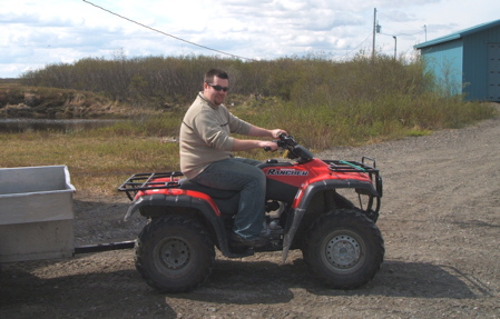 Riding 4-wheeler