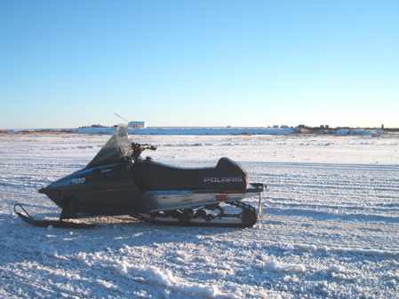 Snowmobile by the new airport