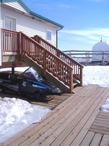 Snowmobile going nowhere for a while