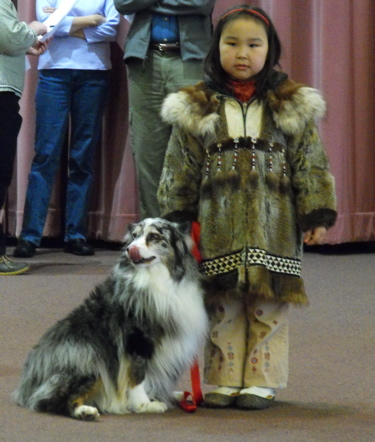 Yupik girl dog show