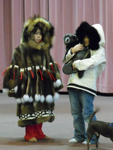 Yupik girls dog show