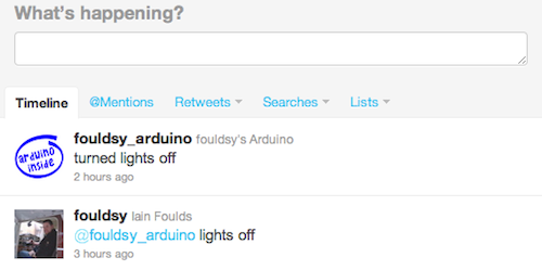 Tweeting to control an Arduino