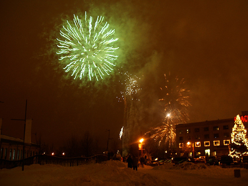 Fireworks for New Year's at The Forks