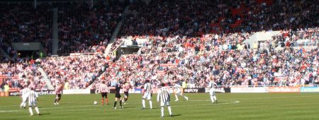 Wear - Tyne derby match in the sunshine